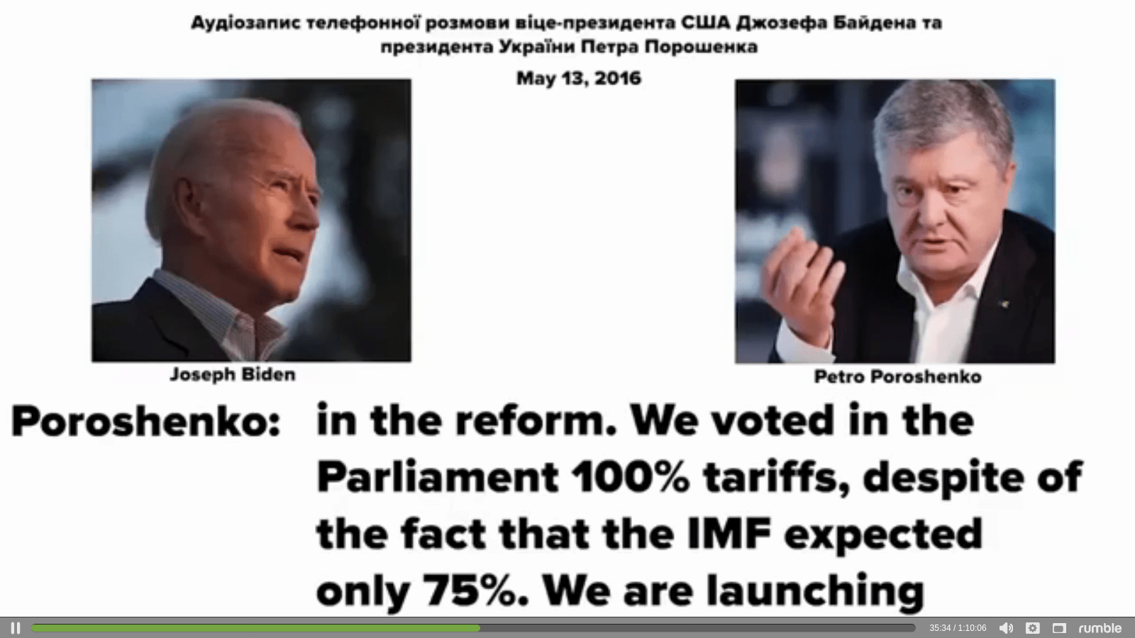 Biden and Ukraine Coal